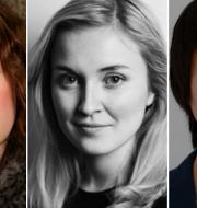 Hanna Hellquist, Irena Pozar och Patrik Lundberg. TT/Veckorevyn