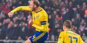 Granqvist jublar. Jonas Ekströmer/TT / TT NYHETSBYRÅN