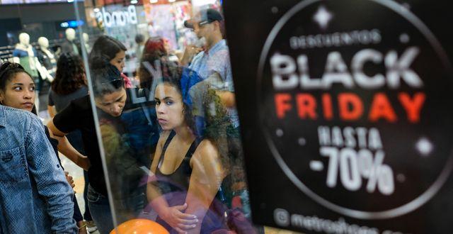 Caracas-bor under Black Friday.  Matias Delacroix / TT NYHETSBYRÅN
