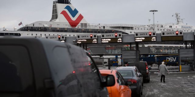 I Frihamnen i Stockholm saknas både personal och lokaler för att utföra gränskontroller. Stina Stjernkvist/TT / TT NYHETSBYRÅN