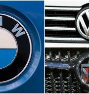 Arkivbilder: BMW-, VW- och Chryslerlogotyper. TT