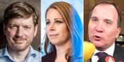 Martin Ådahl / Annie Lööf / Stefan Löfven.  TT