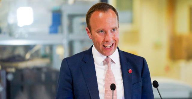 Hälsominister Matt Hancock. Jacob King / TT NYHETSBYRÅN