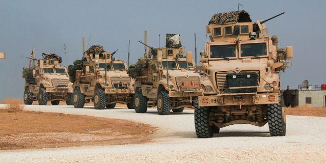 Amerikansk konvoj lämnar Syrien. Baderkhan Ahmad / TT NYHETSBYRÅN