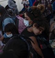 Greta Thunberg, Alaa Salah och en icke-namngiven kvinnlig migrant i ett flyktingläger i Grekland. TT