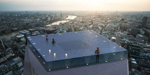Under poolen ska ett femstjärnigt hotell byggas. Compass Pools