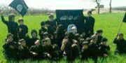 Arkivbild från 2014: Barn i ett av IS-träningsläger i Raqqa i Syrien. TT