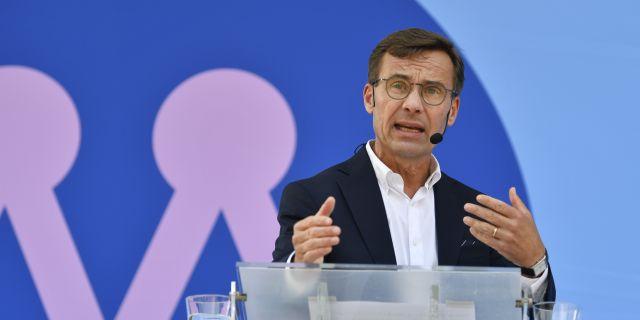Moderaternas partiledare Ulf Kristersson. Anders Wiklund/TT / TT NYHETSBYRÅN