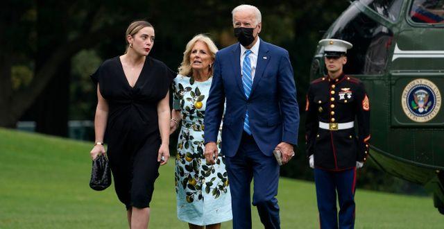 Joe och Jill Biden.  Susan Walsh / TT NYHETSBYRÅN