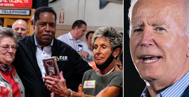Larry Elder/Joe Biden. TT