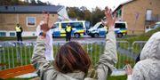 Demonstration vid Migrationsverkets förvar på Sagåsen i Kållered, Göteborg, 10 oktober 2017. Thomas Johansson/TT / TT NYHETSBYRÅN