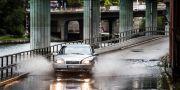 Ett kraftigt regn som orsakade översvämningar i Stockholm, 2014. Lars Pehrson / SvD / TT / TT NYHETSBYRÅN