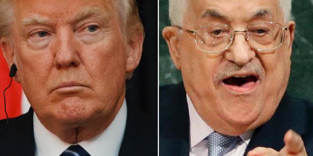 Donald Trump och Mahmoud Abbas, arkivbilder. TT