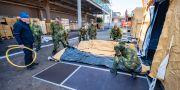I Malmö har ett tillfälligt modulsjukhus byggts upp. Johan Nilsson/TT / TT NYHETSBYRÅN