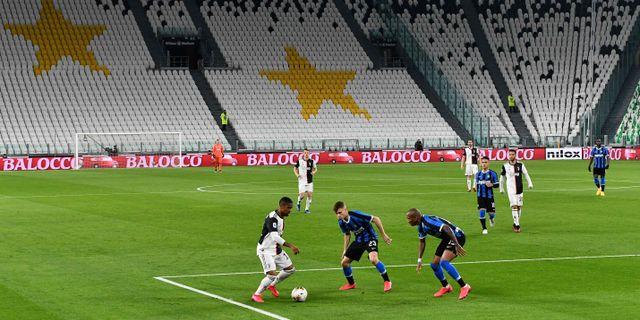 Juventus mot Inter inför tomma läktare i mars. VINCENZO PINTO / TT NYHETSBYRÅN