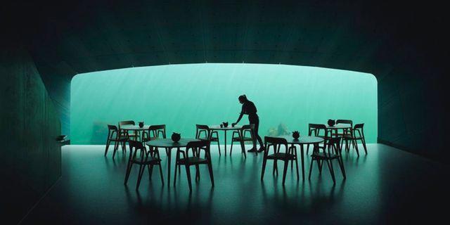 """""""Jag tror det mest spännande blir att besöka restaurangen i hårt väder"""", sa en av arkitekterna, Rune Grasdal, till CNN förra året. Ivar Kvaal/Snøhetta"""