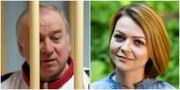 Sergej Skripal (arkivbild) och dottern Julia (bilder från den 23 maj).  TT