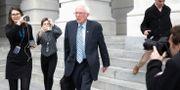 Bernie Sanders utanför Capitoleum efter en omröstning förra veckan TOM BRENNER / TT NYHETSBYRÅN