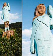 Melania Trumps-staty i Slovenien. TT