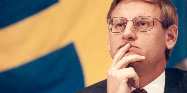 Moderaten Carl Bildt blev Sveriges statsminister 1991.  Lotta Ögren / TT NYHETSBYRÅN