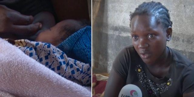 Den nyblivna mamman Guida Antonio i Moçambique. AP-video