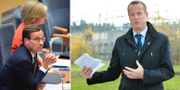 Ebba Busch Thor (KD), Ulf Kristersson (M) och Anders Ygeman (S). TT