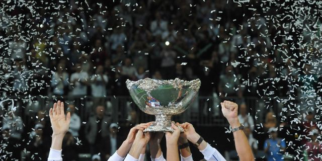 Davis Cup-pokalen - / AFP