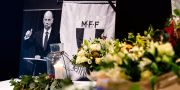 Kondoleansbok, blommor och ljus efter att klubbens ordförande Håkan Jeppssons avlidit. Johan Nilsson/TT / TT NYHETSBYRÅN