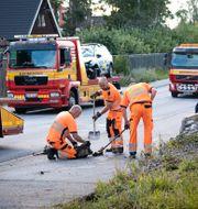 En död och två skadade sedan en polisbil under utryckning krockat med en mopedbil i Täby Naina Helén Jåma/TT / TT NYHETSBYRÅN
