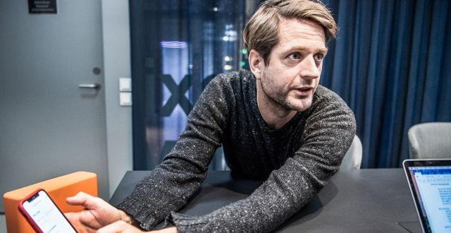 Klarnas medgrundare och vd Sebastian Siemiatkowski.  Lars Pehrson/SvD/TT / TT NYHETSBYRÅN