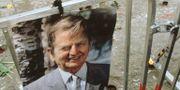 Porträtt av Palme vid brottsplatsen. Arkivbild.  ROLF HAMILTON / TT NYHETSBYRÅN