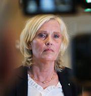 Ann Söderström under fredagens pressträff med Region Västra Götaland.  Adam Ihse/TT / TT NYHETSBYRÅN