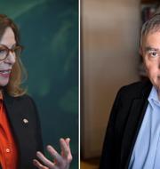 Swedbanks tidigare vd Birgitte Bonnesen och advokat Per E Samuelson  Hossein Salmanzadeh/TT och Christine Olsson/TT