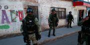 Soldater patrullerar på gatorna i Irapuato, Guanajuato. Rebecca Blackwell / TT NYHETSBYRÅN