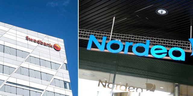 Mest ökar missnöjet med Swedbank och Nordea. TT