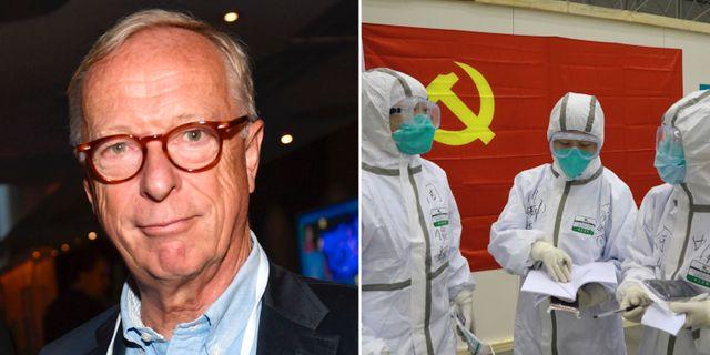 Gunnar Hökmark/Vårdanställda vid ett provisoriskt sjukhus i Wuhan TT/AP
