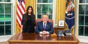 Kim Kardashian och Donald Trump i Vita huset. Vita huset