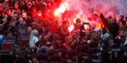 Högerpopulistiska grupper demonstrerar i Chemnitz i söndags. ODD ANDERSEN / AFP