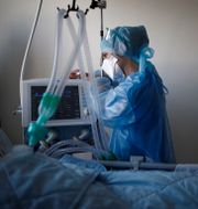 En fransk intensivvårdsavdelning.  BENOIT TESSIER / TT NYHETSBYRÅN