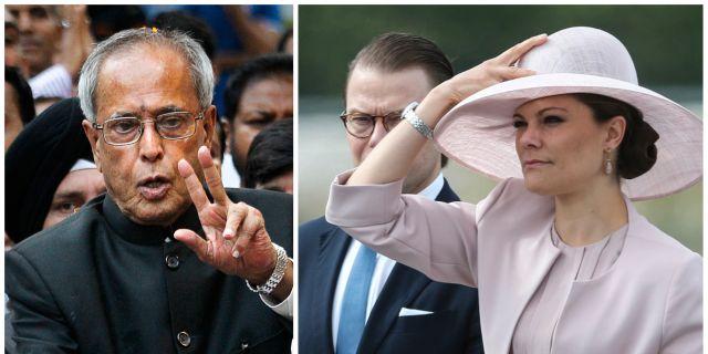 Kronprinsessan välkomnar presidenten i Stockholm. TT