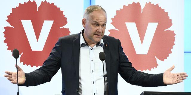 Jonas Sjöstedt.  Claudio Bresciani/TT / TT NYHETSBYRÅN