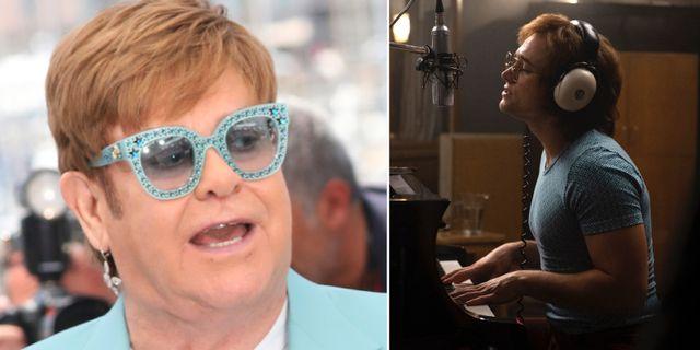 """Elton John och Taron Egerton som spelar Elton John i filmen """"Rocketman"""".  TT."""