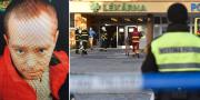 Den man som tjeckiska polisen söker. Bild på entrén till sjukhuset. TT/AP/Tjeckisk polis