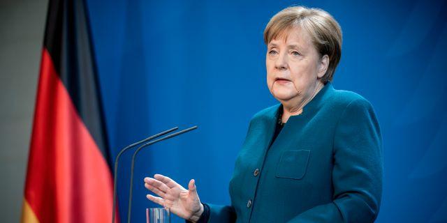 Tysklands förbundskansler Angela Merkel. POOL New / TT NYHETSBYRÅN