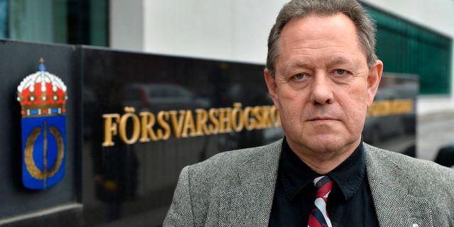 Lars Nicander, chef för Centrum för asymmetriska hot- och terrorismstudier vid Försvarshögskolan.  ANDERS WIKLUND / TT / TT NYHETSBYRÅN