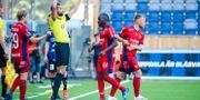 Byte i Djurgårdens match mot Sirius. SIMON HASTEGÅRD / BILDBYRÅN