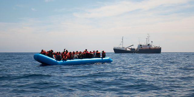 Arkivbild på en annan båt med flyktingar på Medelhavet. Fabian Heinz / TT NYHETSBYRÅN/ NTB Scanpix