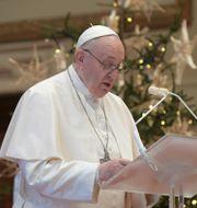 Påve Franciskus. TT NYHETSBYRÅN