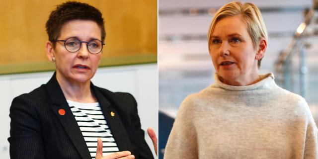 Ann-Sofie Hermansson (S), Anna Johansson (S). Arkivbilder. TT Nyhetsbyrån.