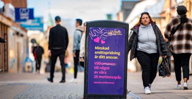 Bild från Uppsala, 19 april.  JONAS EKSTROMER / TT NYHETSBYRÅN